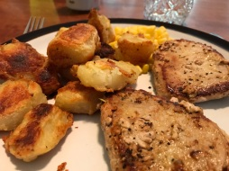 Pan-Friend Pork Chops and Crispy Potatoes